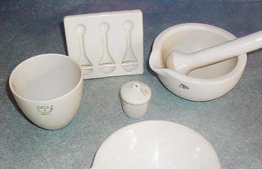 Materiales de porcelana